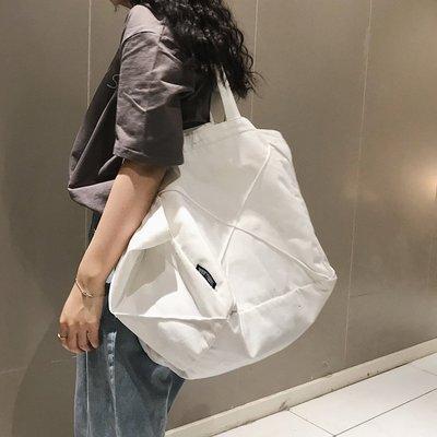 預購款-文藝大包包2019新款韓版帆布包帆布袋ins中包學生單肩女包托特包