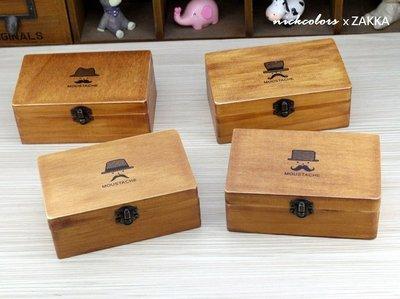 尼克卡樂斯~zakka日式雜貨 實木收納盒(4入組)  復古做舊 飾品收納盒 耳環項鍊收納盒 服飾店展示用盒 化妝台收納