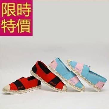 女款平底休閒帆布鞋-熱銷英倫風走秀款明星款女鞋子2色54y33[獨家進口][米蘭精品]