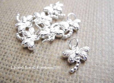 ☆  D.B手創925銀飾批發 ☆ 990純銀 DIY材料 蜻蜓  配件 單顆