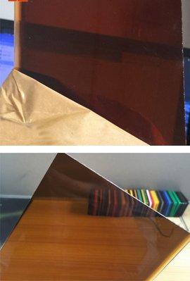 長田廣告  2mm深茶色(半透明)壓克力平板(裁切尺寸,無加工) 尺寸:49cm*11cm