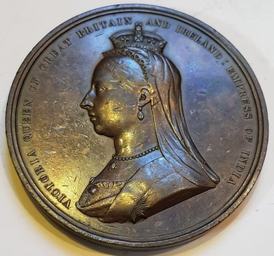 英國銅章 1881 UK Queen Victoria Intl Medical Congress Medal