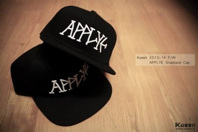KUEEN 2013-14 F/W APPLYE SNAPBACK CAP 棒球帽