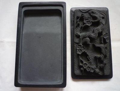 梅花蓋-四方形石硯