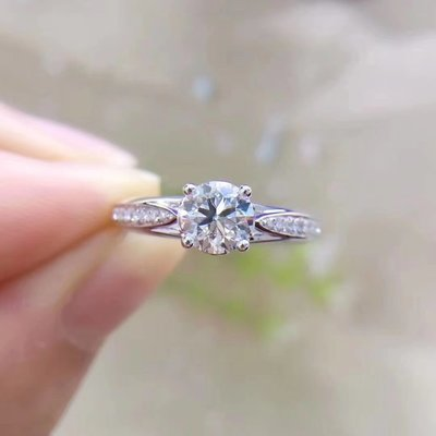 【0.803ct 南非鑽石戒指💍 F-G color, VS級別, 18K白金鑲嵌】珠寶首飾介指吊墜吊咀
