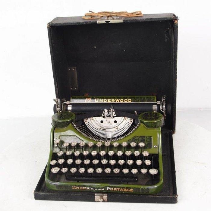 百寶軒 1920年代美國古董安德伍德Underwood機械打字機帶箱9品京紫同款 ZG3303