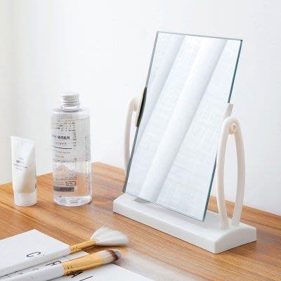 化妝鏡  臺式旋轉梳妝鏡桌面化妝小鏡子 簡約家用公主鏡方鏡化妝鏡   全館免運