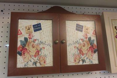 造型 雙門鑰匙盒 Key box木框造...