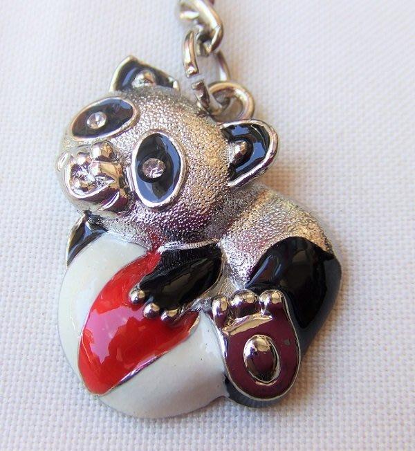☆創意小物店☆ 熊貓A-9 鑰匙扣/創意可愛金屬鑰匙圈 時尚造型個性飾品(扁圈或問號鉤  二選一)