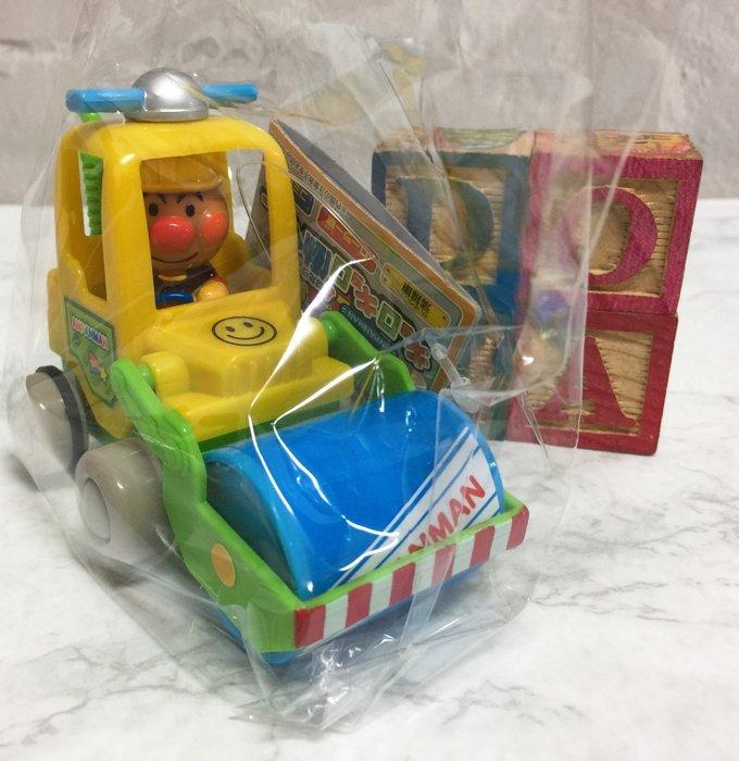 【Dona日貨】日本正版 Anpanman 麵包超人 壓路車 發條玩具車 B39