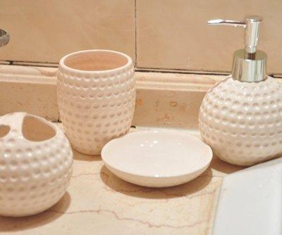 歐式高貴曲線衛浴四件組 - 時尚白 - CBAS00075