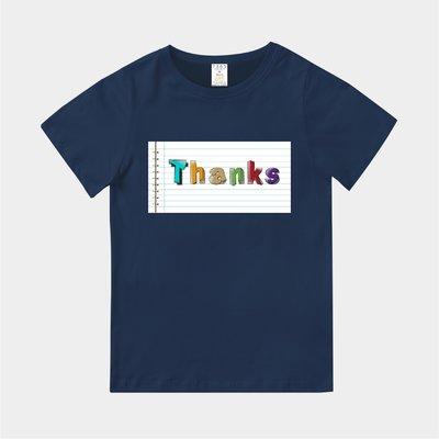 T365 MIT 親子裝 T恤 童裝 情侶裝 T-shirt 標語 話題 口號 美式風格 slogan Thanks