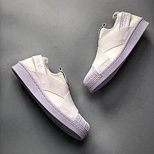 D-BOX  ADIDAS SUPERSTAR SLIP ON W S81338 綁帶鞋 貝殼頭 白色 板鞋