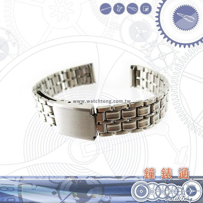 【鐘錶通】金屬錶帶 板摺帶 B1412S 12mm