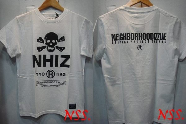 特價「NSS』NEIGHBORHOOD NBHD X IZZUE NHIZ PRINT TEE 黑 白 綠 骷髏 M L