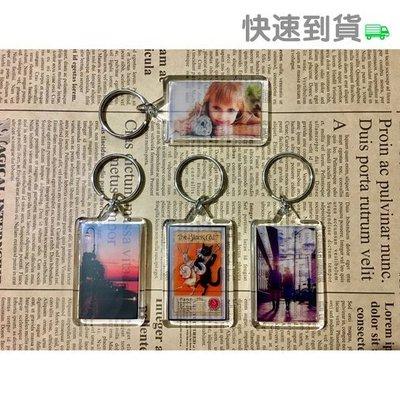 〈透明 鑰匙圈-長方形〉訂做 訂製 客製化 半透明 鑰匙圈 可當吊飾
