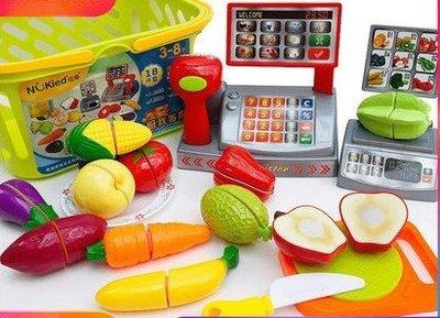 水果蔬菜切切樂組合套装男女孩過家家兒童廚房玩具仿真☆百變花 yang☆