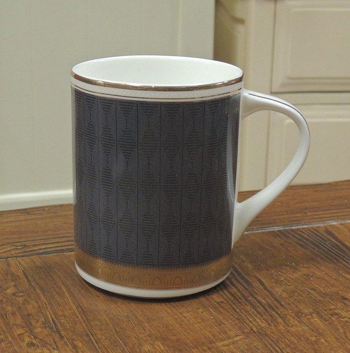 ~溫馨小舖 J&J Store~英國名牌R&D骨瓷杯 金色香榭鐵灰色骨瓷馬克杯 骨瓷杯 馬克杯 咖啡杯 午茶杯 質感非凡