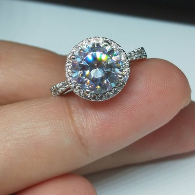 2克拉結婚鑽戒第一名頂級實驗室鑽石媲美...