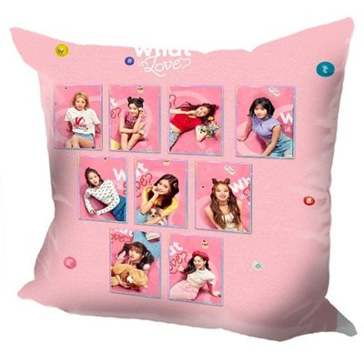 現貨!TWICE 全體 周子瑜 娜璉 Momo 抱枕 靠墊 枕頭,40x40cm,緞紋布,色彩鮮豔,印製精美。J款