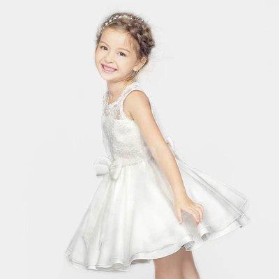 女童禮服兒童白色禮服女童公主裙女童兒童公主裙禮服婚禮花女裙TATA317