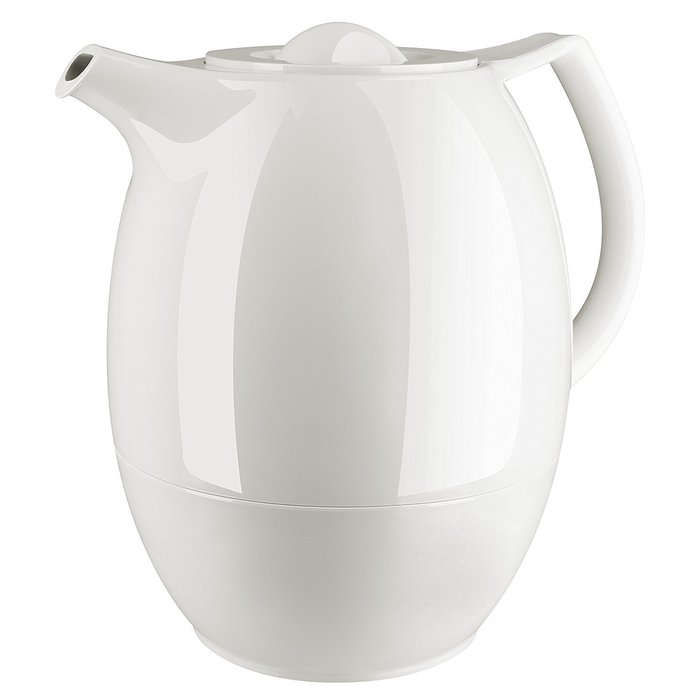 *DEYO德優 豐富生活*德國EMSA Ellipse 精緻典雅保溫壺 白色,附濾茶網1.0 L 德國製