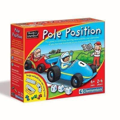 二手義大利 clementoni 兒童數學桌遊  Pole Position 賽車桌遊 加減