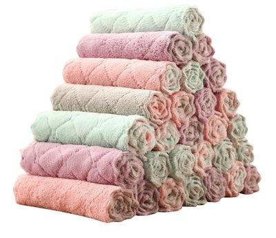 家用吸水洗碗布  厨房清潔布毛巾   双色抹布擦手巾 新北市