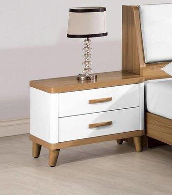 【風禾家具】FEF-579-5@BGL北歐風床頭櫃【台中3100送到家】床邊櫃 置物櫃 低甲醛 傢俱 實木腳 原木色