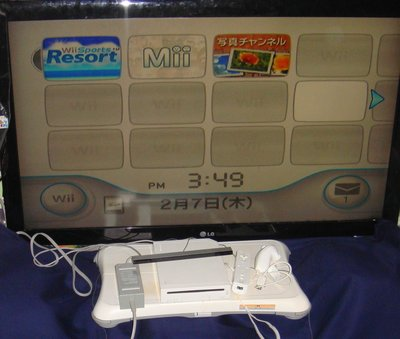 Wii 遊戲主機 + wii平衡板 + wii搖桿一組