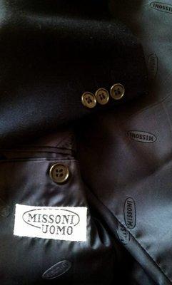 專櫃真品《MISSONI 》藍黑色單排兩扣成套西裝