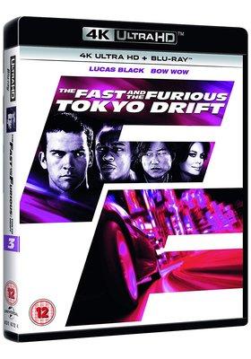 毛毛小舖--藍光BD 玩命關頭3 東京甩尾 4K UHD+BD 雙碟限定版 The: Tokyo Drift