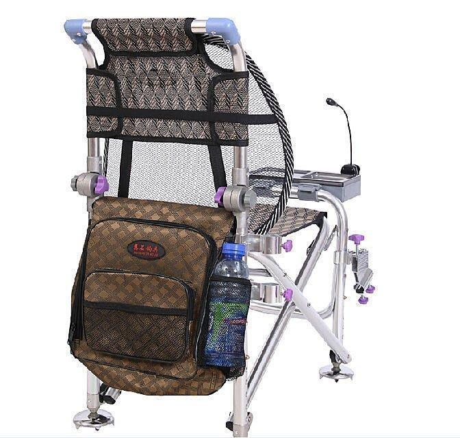 【優上精品】防晃動多功能折疊釣魚椅釣椅子凳子垂釣臺釣椅大腳爪釣凳漁具用品 高(Z-P3232)