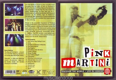 Pink Martini - Discover The World Live In Concert (DVD)@XI31227