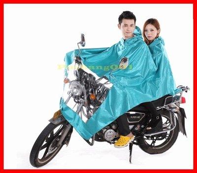 牛津布帳篷式機車雙人雨衣 帳篷式 防風防寒 冬季不怕冷 情侶 媽媽載小孩 梅雨