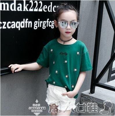兒童短袖女童短袖T恤2019夏裝新款兒童薄款純棉上衣大童小學生半袖體恤潮
