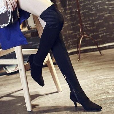 真皮過膝靴 低跟長靴-時尚優雅百搭側拉鍊女鞋73iv43[獨家進口][米蘭精品]