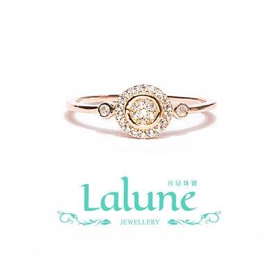 925純銀 Sunshine 陽光 玫瑰金雙圓戒 晶鑽 CZ 水鑽 小資OL 造型戒指