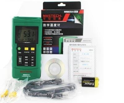 Mastech 溫度計 MS6514 雙通路溫度計 溫度記錄器 溫度記錄儀 可搭咖啡烘培軟體 Artisan