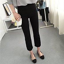 NANAS【RE50567】好版型超好穿中腰彈力拼接超顯瘦9分微喇叭褲 特價 現貨/預購