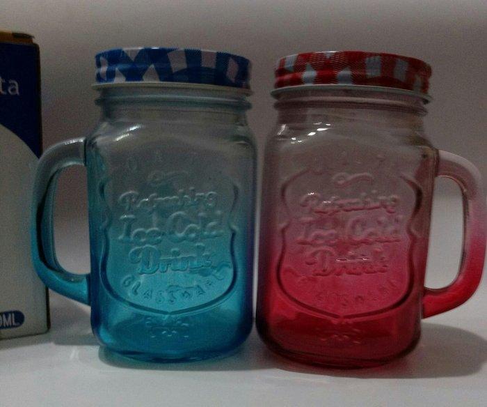 全新 聖誕節禮物  創意玻璃梅森杯   對杯   購買價:68 元