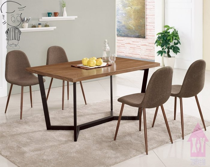 【X+Y時尚精品傢俱】現代餐桌椅系列-依丹 4.3尺餐桌不含餐椅.噴黑砂五金腳架.摩登家具