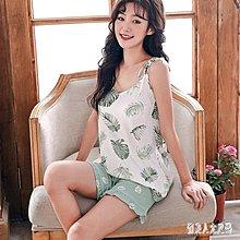 [全場免運]夏季新款睡衣女兩件式套裝夏季性感吊帶背心韓版家居服可外穿 FR8990 【午后街角】