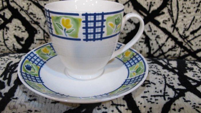 全新浪漫花朵咖啡杯盤