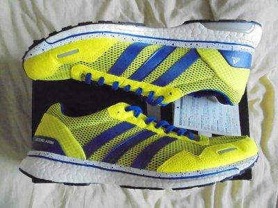 全新 Adidas Adizero Japan (Adios) Boost 3 M 黃藍 路跑 馬拉松 US10 新北市