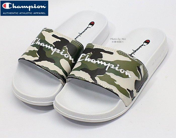 CHAMPION冠軍 草寫字樣圖案 運動休閒拖鞋  ( 913250270 )