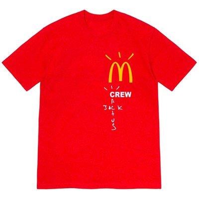 【AYW】TRAVIS SCOTT CACTUS JACK MCDONALD'S CREW TEE 限量聯名 短袖 上衣
