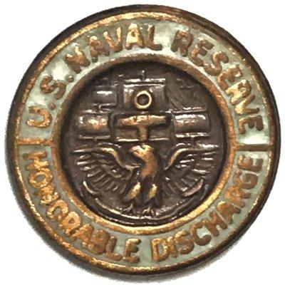 美軍公發 USNR 海軍預備役 Honorable Discharge 榮譽退役 金屬胸章 全新
