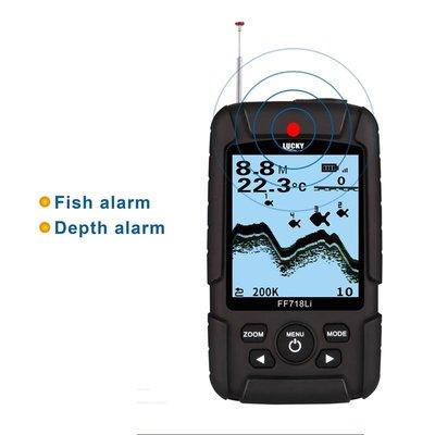 探魚器 雙聲納 頻率200Khz / 83Khz 有線 魚探儀 100M深度 報警探測器LUCKY FF718LiD-T E1250ZB