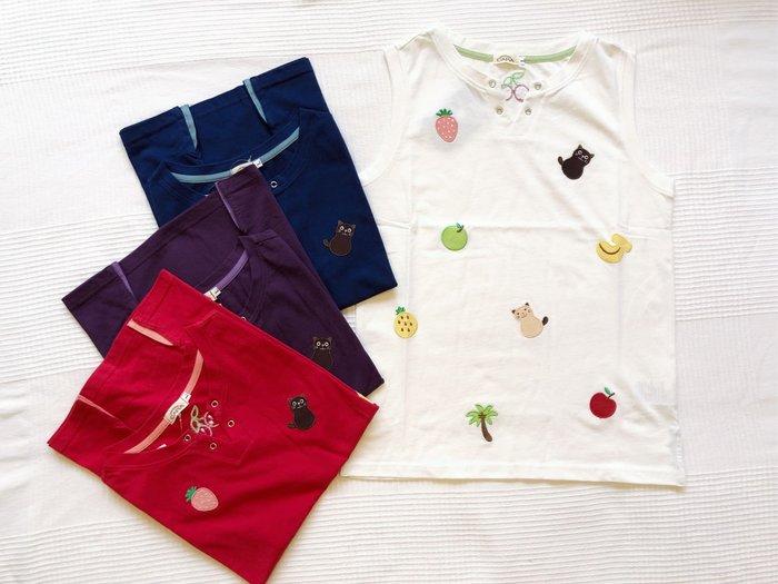 日本卡拉貓~水果貓咪無袖上衣 背心上衣